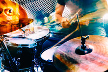 Playing Drum And Concert Conce...