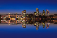 London Cityscape With Reflecti...
