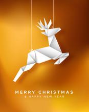 Christmas New Year Reindeer Pa...