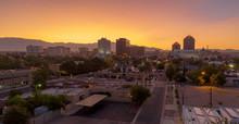 Orange Sunrise Aerial Perspect...