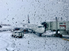 Flight Delayed By Winter Conditions At Airport