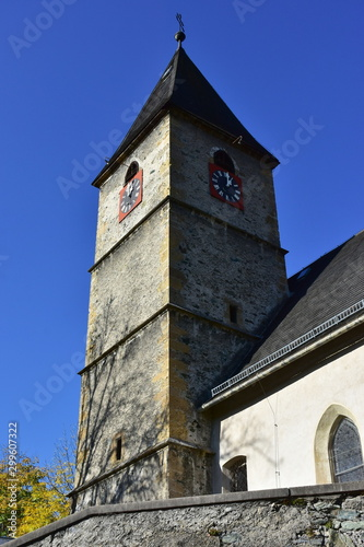 Photo  church Saint Jakobus in Payerbach in Austria