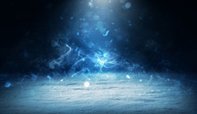 Winter Abstract, Blurred Backg...