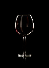 Bottle And Wine Glass With Red Wine