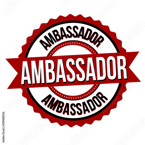 Ambassador label or sticker Canvas Print
