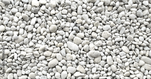 Obraz na plátně white pebble stones in top view