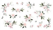 Set Of Floral Branch. Flower P...