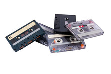 Old Cassette Tapes In A Heap