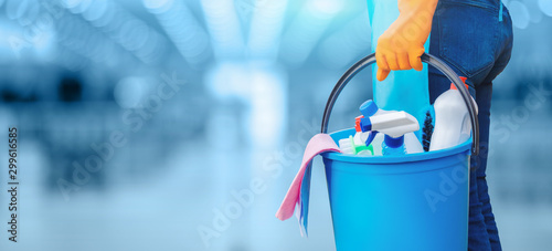 Cuadros en Lienzo  Concept of quality cleaning.