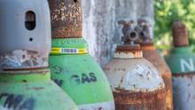 Old Big Gas Oxygen Tank Cylinder