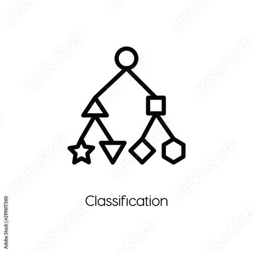 Photo classification icon vector