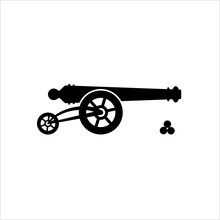 Cannon Icon, Weapon Icon, Old Style