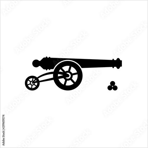 Fényképezés Cannon Icon, Weapon Icon, Old Style