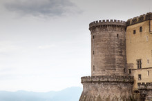 Castle Tower In Naples