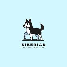 Husky Dog, Vector Logo Cartoon