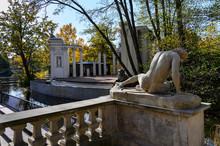 Amphitheater On Island In Lazienki Krolewskie Park