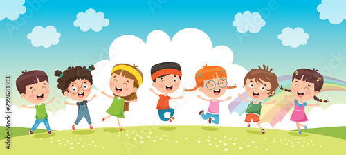 Fototapeta Little Children Having Fun Together obraz