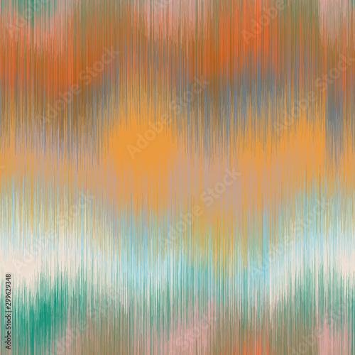 Soft blurry ikat gradient ombre seamless repeat vector pattern in natural terra cotta desert colors Fototapet