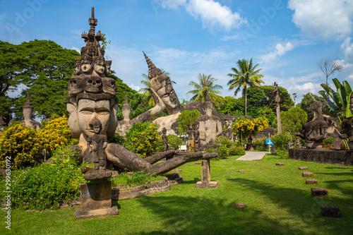 Foto  Buddha park Xieng Khouane in Vientiane, Laos