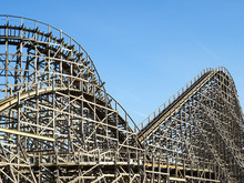 A Large Wooden Roller Coaster ...