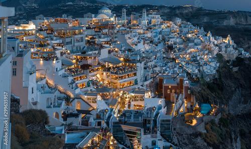Fototapeta Santorini night  obraz