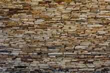 Wall Of Stone Slate. Pattern O...