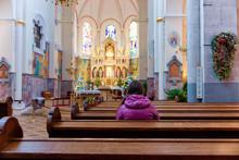 Woman Prayer In Franciscan Chu...