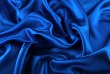 Beautiful Blue Silk Fabric Tex...