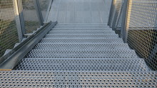 Grate Steel Staircase. Externa...
