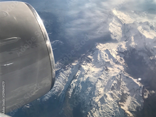 View From Plane Window Looking Down - 299644579