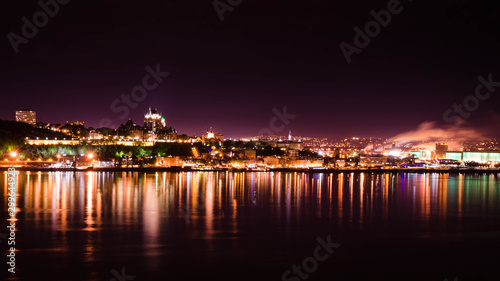 Night view of Quebec City from Levis Poster Mural XXL