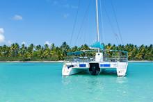 Catamaran Sailing In Caribbean...