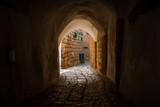 Fototapeta Uliczki - stone street in the old city of Israel