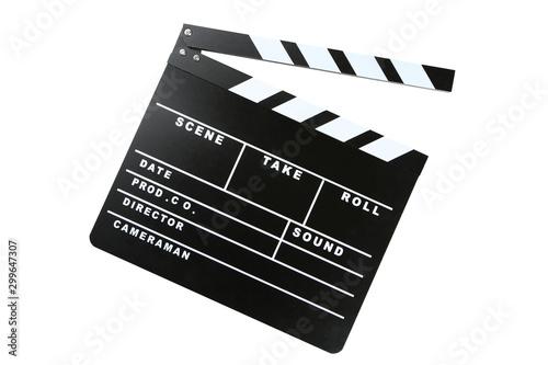 Fotografia Clapper board isolated on white background
