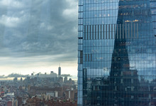 View Of Manhattan On A Stormy ...