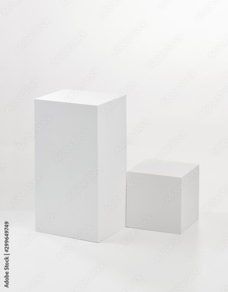 Fototapeta two white cubes