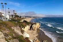 Pismo Beach At San Luis Obispo Bay Facing Pacific Ocean In California