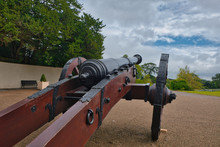 A Cannon At The Site Where The...