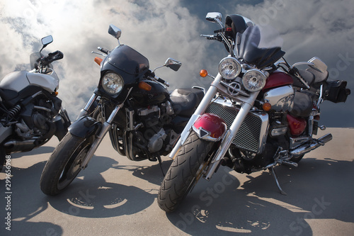obraz PCV Motorcycles on the road