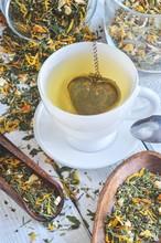 Interesting Drink Concept. Tea...