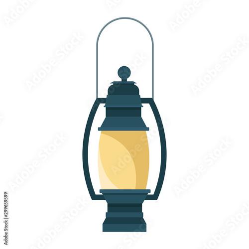 Obraz camping lantern icon, flat design - fototapety do salonu