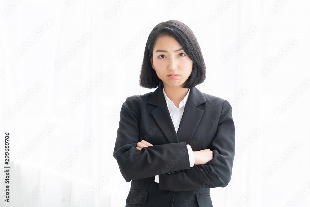 Fototapeta 怒る女性 ビジネス