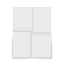 Paper Sheet Folded And Isolated