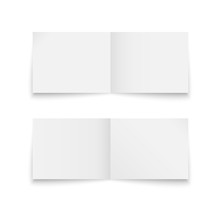 Folded Paper Sheet Set Isolated On A White