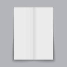 Folded Paper Sheet Set Isolated