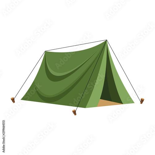 Fototapeta camping tent icon, flat design