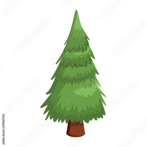 Obraz pine tree icon, flat design - fototapety do salonu