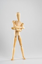 Wooden Pose Doll With Crossed ...