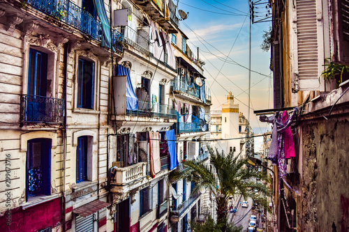 View of Traditional Neighborhood in Algiers, Algeria