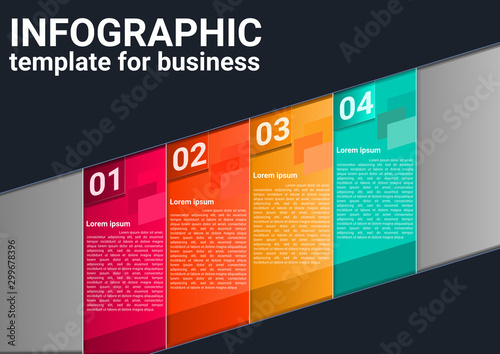 Infographic business marketing concept workflow layout design vector Canvas Print
